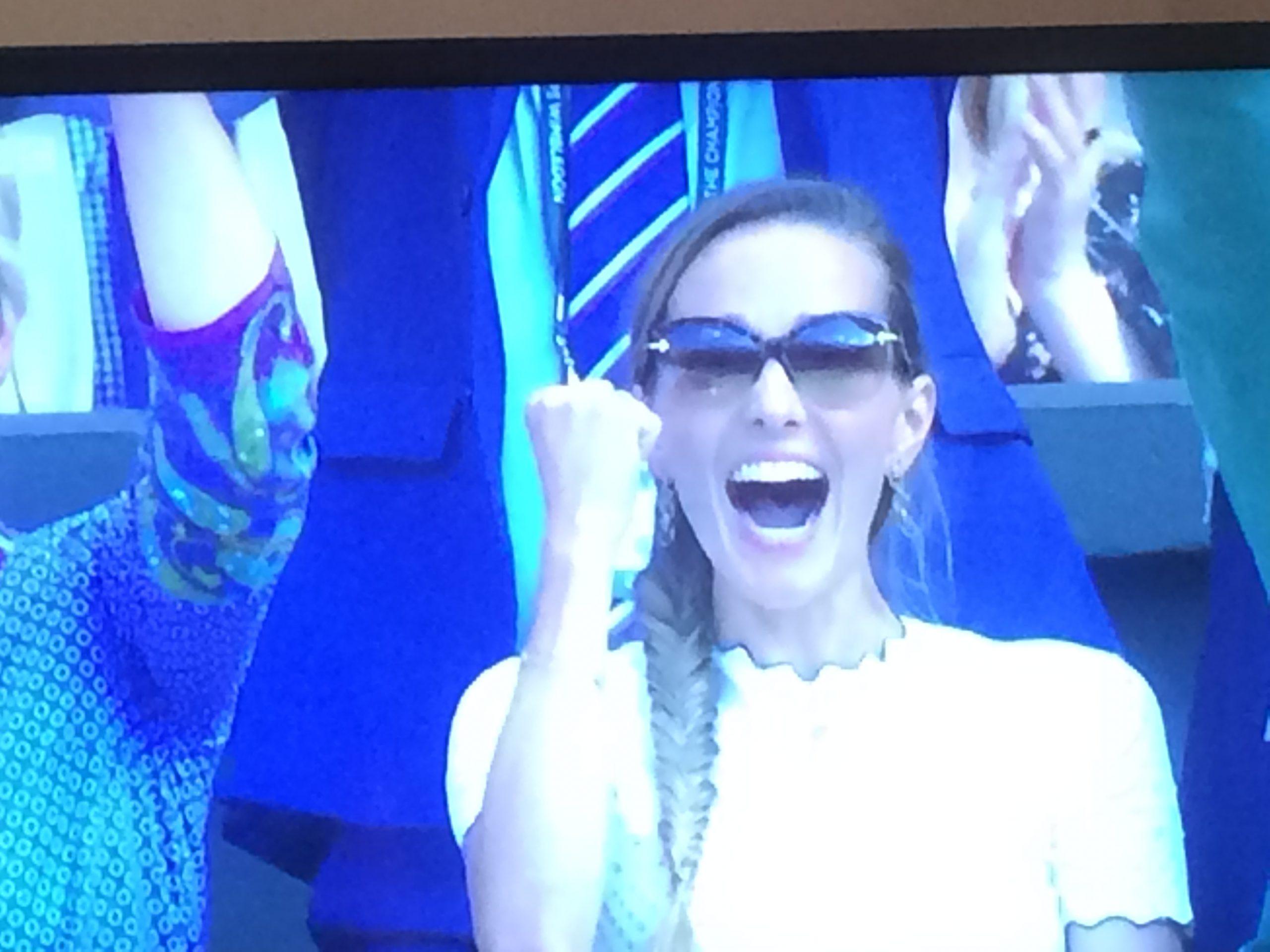 Djokovic's wife ecstatic!